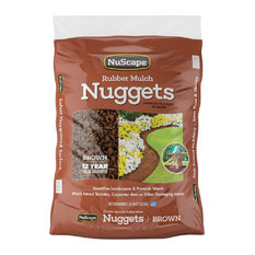 Nuscape® Ns8Et Rubber Mulch Nuggets Ground Cover, Brown, 0.8 Cu.Ft.