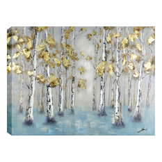 """ArtMaison Canada - Golden Forest I Acrylic Painting on Canvas, 29.5""""x39"""" - Paintings"""