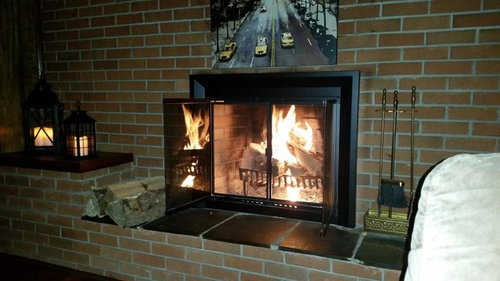 Convert Single Sided Fireplace To Double Sided
