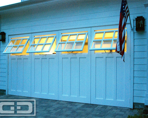 Real Carriage Doors With Awning Style WIndows for a Garage ...