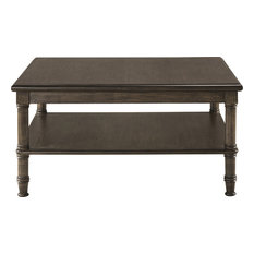 Hillsdale Furniture   Seneca Coffee Table, 4 Baskets Included, Walnut,  Natural Seagrass