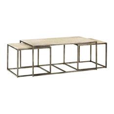 Hammary Modern Basics Rectangular Cocktail Table With Textured Bronze Base