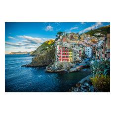 """Cinque Terre Riomaggiore, Semi-Gloss, 24""""x16"""""""