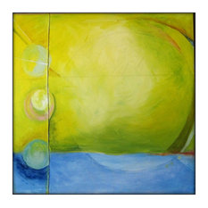 Large Abstract Original Painting Canvas Modern Acrylic Painting - 40x40 - Yellow