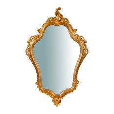 Baroque Wall Mirror, Gold, 57x90 cm