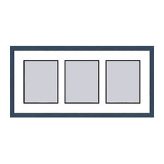 Blue Shaker Collage Picture Frame - 3 openings for 5X7 photos