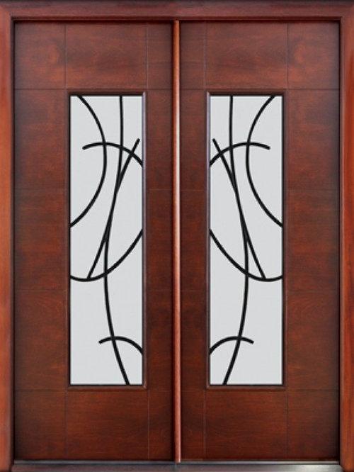 Entry Double Door Designs great double door designs for houses teak wood carving exterior double door buy teak wood carving Prehung Low E Double Door Florida Approved Modern Sandonato Ironwork Front Doors