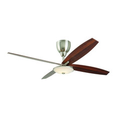Home Decorators Collection Home Decorators Collection Bailey 56 In Led Brushed Nickel Ceiling Fan