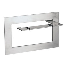 Self-Adhesive Toilet Roll Holder, Matte Silver