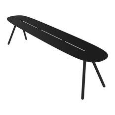Large A-Lowha Bench, Black, Black Frame