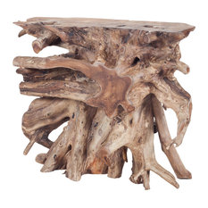 ELK Group International - Dimond Home Teak Root Wood Console Table, Natural Woodtone - Console Tables
