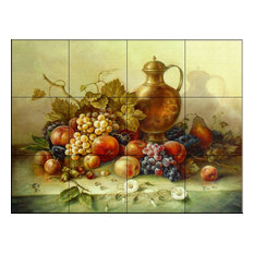 Tile Mural, Fruit Bouquet I by Corrado Pila