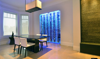 Absolutely Stunning Glass Wine Cellar With Waterfall Feature