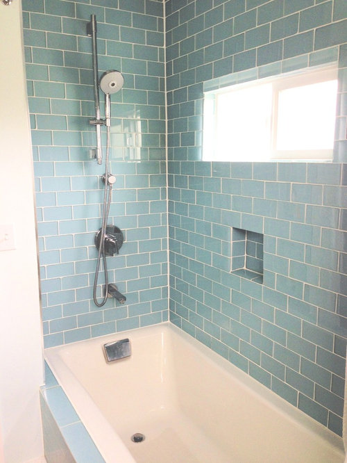 What Bathroom Tile To Use To Complement Glass Color Tile In Shower - Cheap bathroom tile alternatives