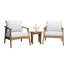 Eucalyptus 3-Piece Modern Seating Group With Round Accent Table