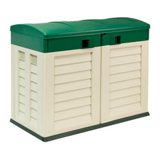 Garden Shed, Beige and Green