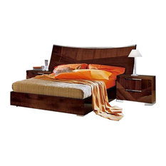 Cindy 3-Piece Bedroom Set, Walnut Lacquer, Queen