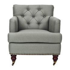 Safavieh - Safavieh Colin Tufted Club Chair X-D2128DUH - Armchairs and Accent Chairs