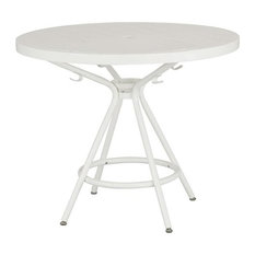 Safco Products Cogo 36 Steel Patio Bistro Table White Outdoor Pub