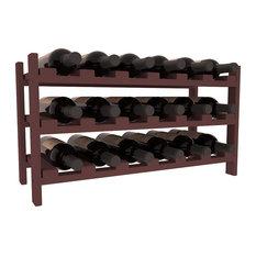 Wine Racks America Pine 18-Bottle Stackable Wine Rack, Walnut Stain