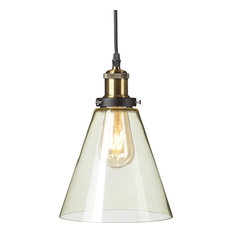 Colored glass pendant lights houzz southern enterprises tanaro colored glass mini pendant lamp champagne amber pendant lighting aloadofball Image collections