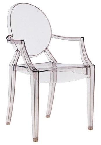Louis Ghost Stol, Grå - Udendørs spisebordsstole