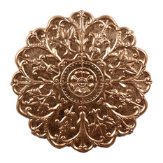 Wilco Home Gold Patina Embossed Metal Wall Rosette Art