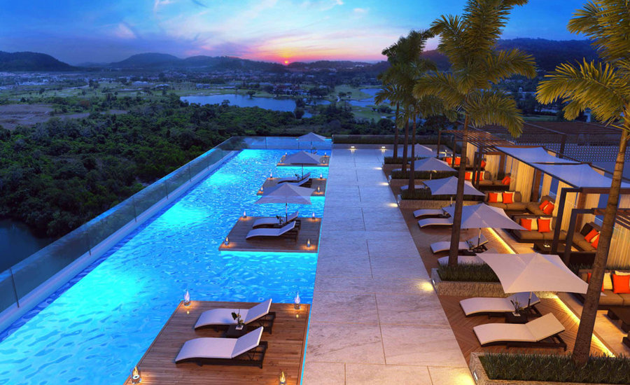 yoo phuket -Roof top pool