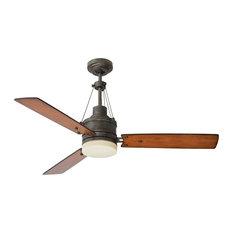 Industrial Style Ceiling Fan: Emerson Fans - Highpointe Ceiling Fan, Vintage Steel - Ceiling Fans,Lighting