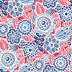 NuWallpaper - Dream On Red Peel & Stick Wallpaper Swatch Sample - Infuse life into rooms with this animated, vintage design. Layers of blue, white and grey flowers cheerfully twirl about vibrant red leaves. Dream On Red Peel and Stick Wallpaper comes on one roll that measures 20.5 inches wide by 18 feet long. Vibrant floral pattern with a vintage style; Peel and stick to apply, pull up to remove; NuWallpaper is safe for walls and leaves no sticky residue behind; Easily repositionable while installing; NuWallpaper sticks to any smooth, flat surface - perfect for DIY projects; Ideal for rental or home decorating;Comes on a 20.5-in x 18-ft roll and covers about 30.75 sq. ft;Design repeat of 21-in;This product should NOT be applied to textured walls - smooth clean, dry, painted surface only (no Non-Stick paint or soap residue).