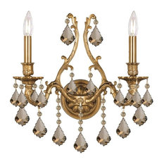 Yorkshire Two Light Aged Brass Wall Light