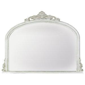 Amarone Mantel Mirror, White, 120x95 cm