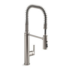 Kohler Purist Semiprofessional Kitchen Sink Faucet, Vibrant Stainless
