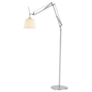 Architect Floor Lamp, Satin Steel