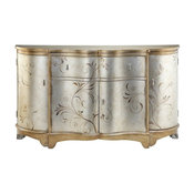 Single Drawer Curved Narrow Credenza