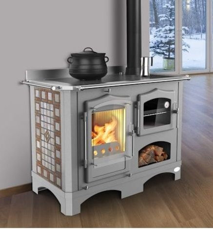 regina wood cook stove from italy choice of side panels. Black Bedroom Furniture Sets. Home Design Ideas