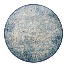 "Loloi Anastasia Rug, Light Blue/Ivory, 7'10""x7'10"" Round"
