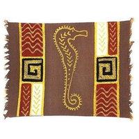 Handpainted Grey Seahorse Batiked Placemat - Tonga Textiles