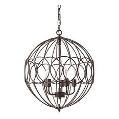 1st Avenue - Fife Globe Metal Pendant Light, Antique Bronze - Pendant Lighting