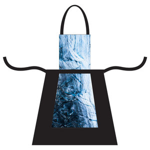 Printed Canvas Apron, Glacier