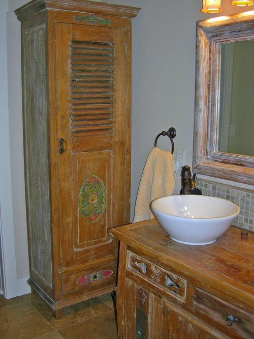Bathrooms (vanities, vessel sinks, bathtubs, tile)