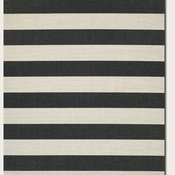 Couristan Afuera Yacht Club Onyx and Ivory Indoor/Outdoor Rug, 2'x3'7""