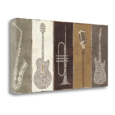 """""""Type Band Neutral Panel"""" By Michael Mullan, Giclee Print on Gallery Wrap Canvas"""