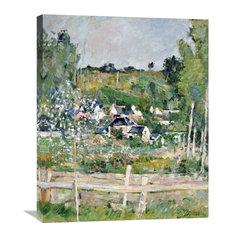 """A View of Auvers-Sur-Oise; The Fence"" Artwork, 24"" x 30"""