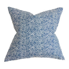 Edythe Zigzag Floor Pillow, Blue