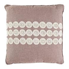 "Safavieh Thora Pillow, Set of 2, Taupe, 22""x22"""