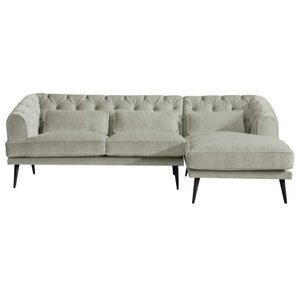 Earl Grey Chaise Sofa, Putty, 3 Seater, Right Hand Facing