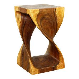 Haussmann® Original Wood Twist Stool 12 X 12 X 20 In High Oak Oil
