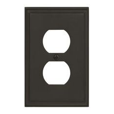 Mulholland 1 Receptacle Black Bronze Wall Plate