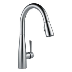 Delta Essa Single Handle Pull-Down Kitchen Faucet, Arctic Stainless, 9113-AR-DST